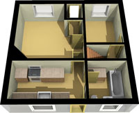 3D Real Estate Floor Plan