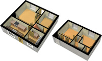 3D Ground and First Floor Isometric View