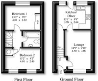 2D Real Estate Floor Plan